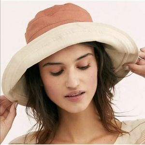 Free People Bucket Hat  Reversible Cotton Canvas